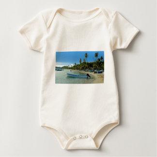 karibischer Strand Baby Strampler
