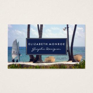Karibischer Strand Visitenkarte