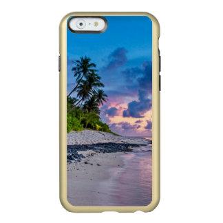 Karibisches Strand-Türkis-Wasser und Küstenpalmen Incipio Feather® Shine iPhone 6 Hülle