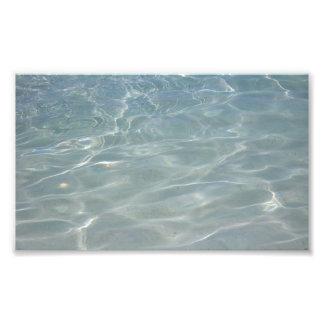 Karibisches Wasser-abstrakte blaue Natur Fotodruck