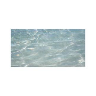 Karibisches Wasser-abstrakte blaue Natur Leinwanddruck