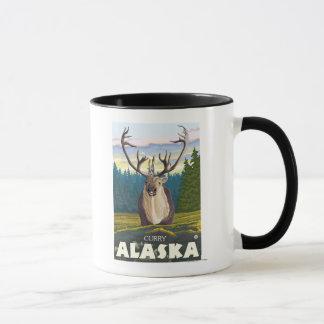 Karibu im wilden - Curry, Alaska Tasse