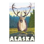 Karibu im wilden - Latouche, Alaska Leinwand Druck