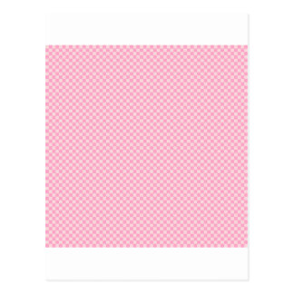 Kariert - Rosa 2 - erblassen Sie - Rosa und Postkarte