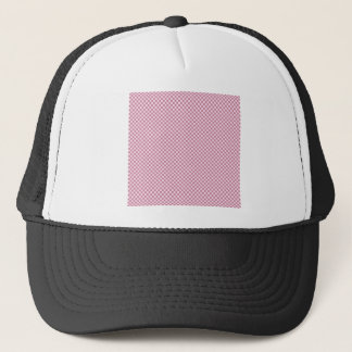 Kariert - rosa Spitze und Puce Truckerkappe