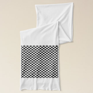 Kariert-Schwarz-Weiß-Jersey-Mode Schal