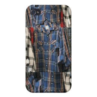 Karierte Achtzigerjahre Hipster-Flanell-Shirts 4 iPhone 4 Hüllen