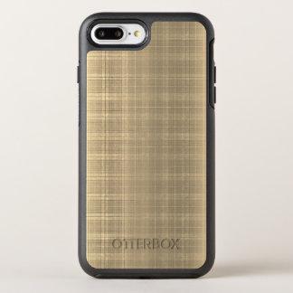 Karierte Art 90s Grunge-BrownTartan OtterBox Symmetry iPhone 8 Plus/7 Plus Hülle