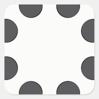 Karierte dunkelgraue Punkte Quadratischer Aufkleber