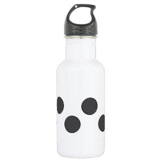 Karierte dunkelgraue Punkte Trinkflasche
