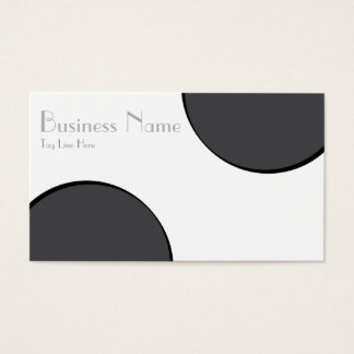 Karierte dunkelgraue Punkte Visitenkarte