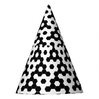 Karierte Hexagone Partyhütchen