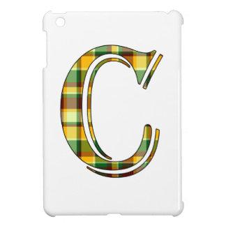 Karierte Initiale C iPad Mini Hülle