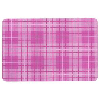 Karierte Muster-Rosa Bodenmatte