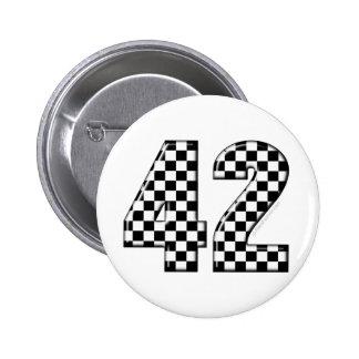 karierte Nr. 42 Buttons