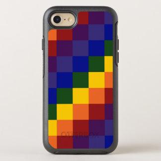 Karierte Regenbogen-Farbblöcke OtterBox Symmetry iPhone 8/7 Hülle