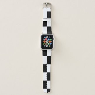 Karierte Schwarzweiss-Rechtecke Apple Watch Armband