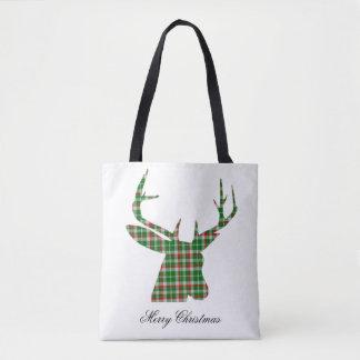 Karierte Weihnachtsdollar-Taschentasche Tasche