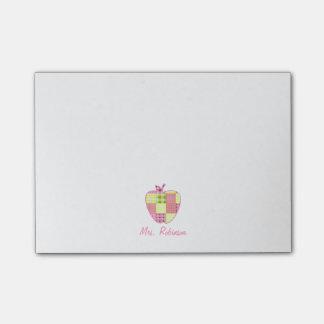 Karierter Apple-Lehrer Post-it Haftnotiz