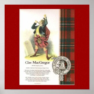 Karierter Clan MacGregor auf Leinwand Plakat