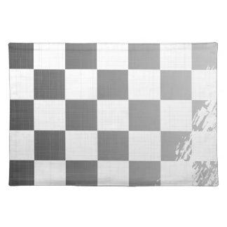 Karierter Flaggen-Schmutz Tischset