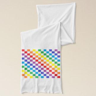 Karierter Regenbogen Schal