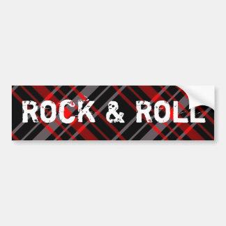 Karierter Rock-and-RollAutoaufkleber Autoaufkleber