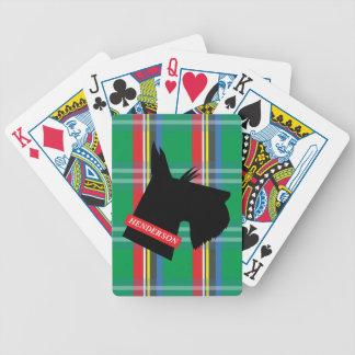 Karierter schottischer Terrier-personalisierte Bicycle Spielkarten