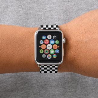 Kariertes Apple-Schwarzweiss-Uhrenarmband Apple Watch Armband