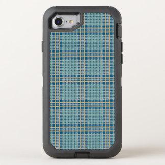 Kariertes aquamarines Blaues und gelb OtterBox Defender iPhone 8/7 Hülle