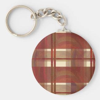 Kariertes Fall-Rot Madras Schlüsselanhänger
