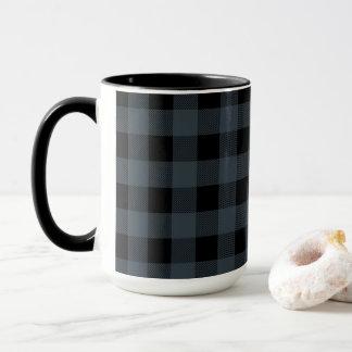 Kariertes | Geschenk des schwarzen und blauen Tasse