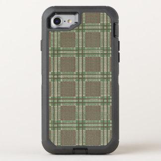 Kariertes Grünes und braun OtterBox Defender iPhone 8/7 Hülle