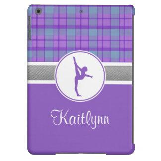 Kariertes iPad Air ケース des lila Gymnastik-Schatzes iPad Air Hülle
