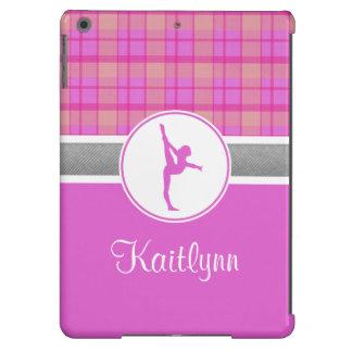 Kariertes iPad Air ケース des rosa Gymnastik-Schatzes iPad Air Hülle