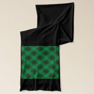 Kariertes Muster - Grün und Rot Schal