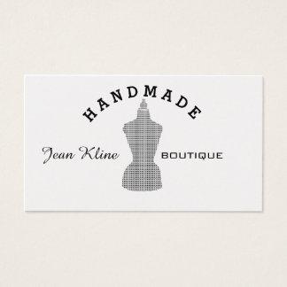 Kariertes Muster-Retro Mannequin-Mode-Attrappe Visitenkarte