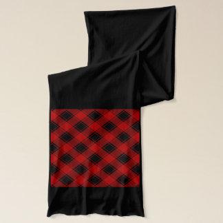 Kariertes Muster - Rot und Schwarzes Schal