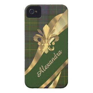 Kariertes personalisiertes des eleganten grünen iPhone 4 etuis
