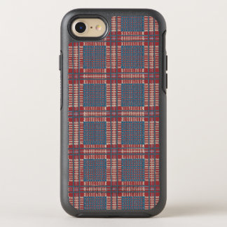 Kariertes Rotes und blau OtterBox Symmetry iPhone 8/7 Hülle