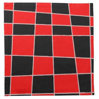 Kariertes rotes und schwarzes kundengerechtes serviette