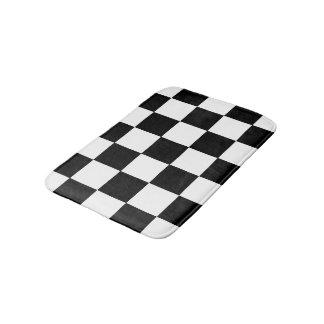 Kariertes Schachbrett-Schwarzweiss-Muster Badematte