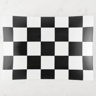 Kariertes Schachbrett-Schwarzweiss-Muster Dekoschale