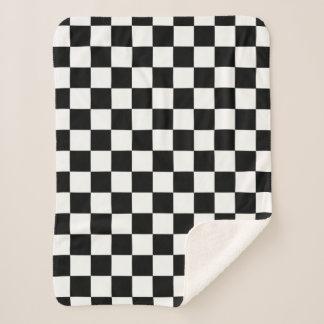 Kariertes Schachbrett-Schwarzweiss-Muster Sherpadecke