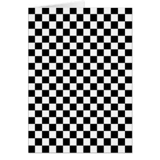 Kariertes Schwarzweiss-Muster Karte