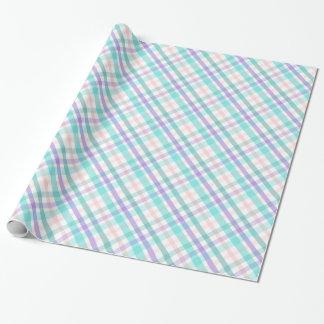 Kariertes Verpackungs-Pastellpapier Geschenkpapier