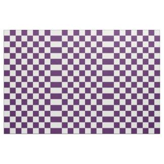 Kariertes violettes und weißes geometrisches stoff