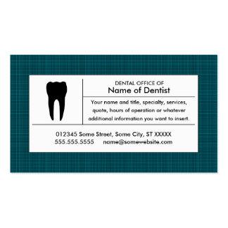 kariertes zahnmedizinisches Büro Visitenkarten