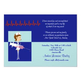 Karikatur-Krankenpflege-SchulAbschluss-Einladung 12,7 X 17,8 Cm Einladungskarte