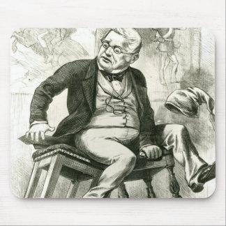 Karikatur von Adolphe Thiers zwischen zwei Mauspad